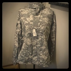 US Army digital camo uniform top S short